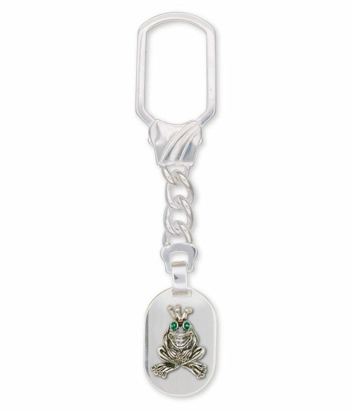 Frog Key Ring Jewelry Sterling Silver Handmade Frog Key Ring FG18-XKRE