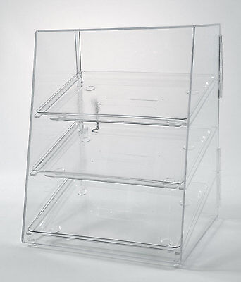 Food Display Case with 3 Trays  - Acrylic Pastry Case - Donut Bakery