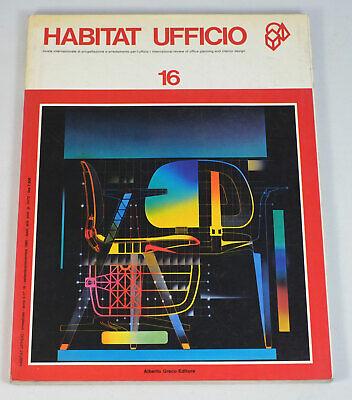 Habitat Ufficio #16 Italian Office Furniture Interior Design 1985 Magazine for sale  Shipping to India