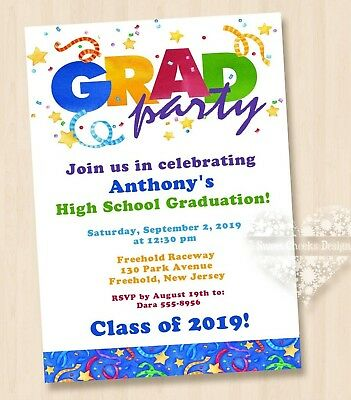 10 - 2019 HIGH SCHOOL GRADUATION INVITATIONS GRAD PARTY ](High School Graduation Parties)