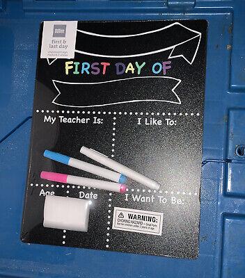 First & Last Day of School Chalkboard Sign Keepsake Memories Office Depot 2 Side
