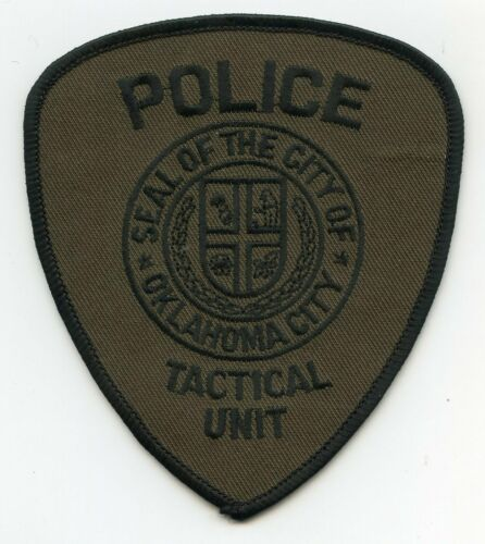 OKLAHOMA CITY OKLAHOMA OK Tactical Unit POLICE PATCH