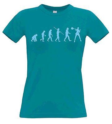 Tennis Evolution Tennisshirt Damenshirt Tennisschläger Ball Damen T-Shirt dbs78
