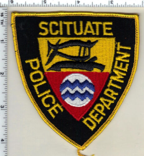 Scituate Police (Rhode Island) Wide Waves Shoulder Patch from 1989