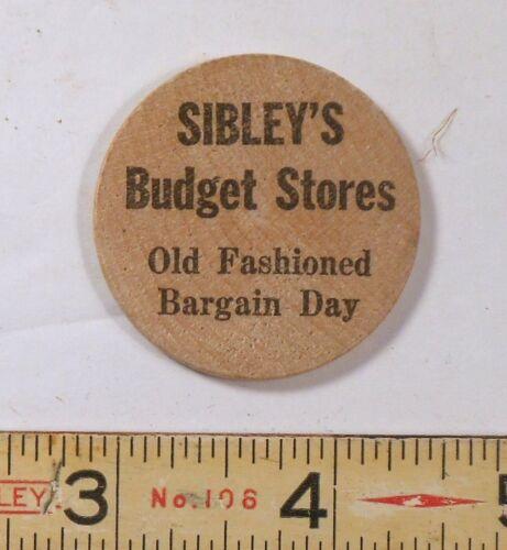 Wooden Nickel from Sibleys, Rochester, New York