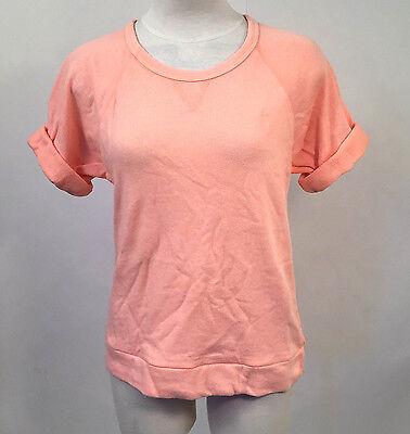 Obey Women's SS Knit Top Echo Mountain Peach Size XS NWT Shepard Fairey ()