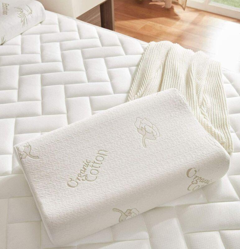 """Memory Foam Pillow For Neck Support Ergonomics Washable Contour Pillow 24"""" x 16"""""""