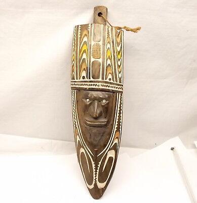Vtg Papua New Guinea Wood Gope Spirit Board Ancestral Figure Mask Hohao Gulf