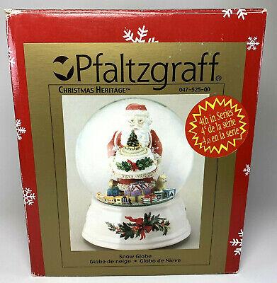 Pfaltzgraff Christmas Heritage Santa Claus Musical Double Snow Globe 047-525-00