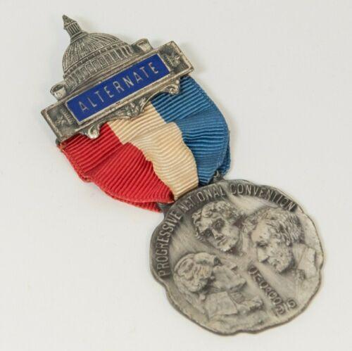 "Antique 1916 Progressive National Convention Chicago ""Alternate"" Pin (MIT)"