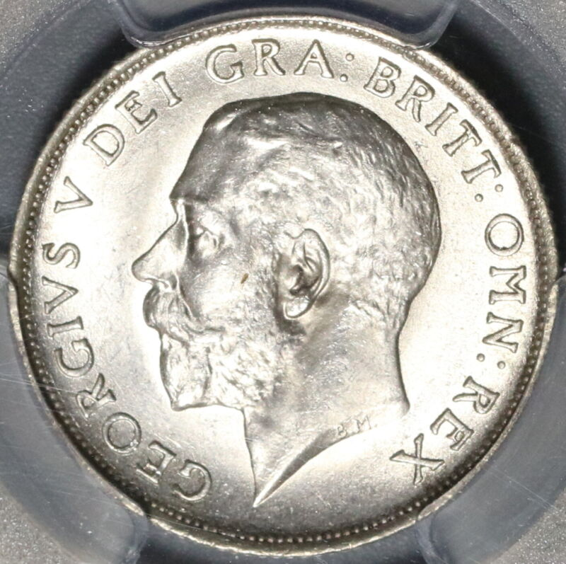 1919 PCGS MS 65 Shilling George V Great Britain Last Sterling Coin (20052803C)