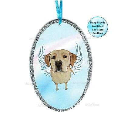Yellow Lab Angel Ornament Labrador Retriever Dog Memorial Christmas Ornament
