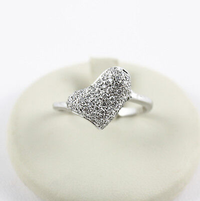 "White Gold Ring 18kt and Diamonds White Colour "" G "" Purity "" VVS """