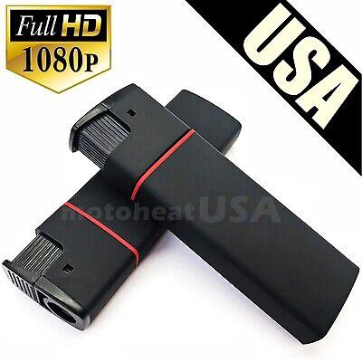 HD Mini DV Lighter Hidden Spy Cam Camera Nanny DVR Video Recorder Black 1080p