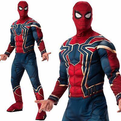 Mens Official Iron Spiderman Avengers Endgame Fancy Dress Superhero Costume](Official Superhero Costumes)