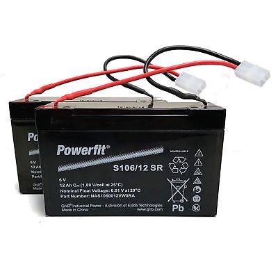 2 X 6 VOLT 12 AMP BAIT BOAT BATTERIES TO FIT MICROCAT