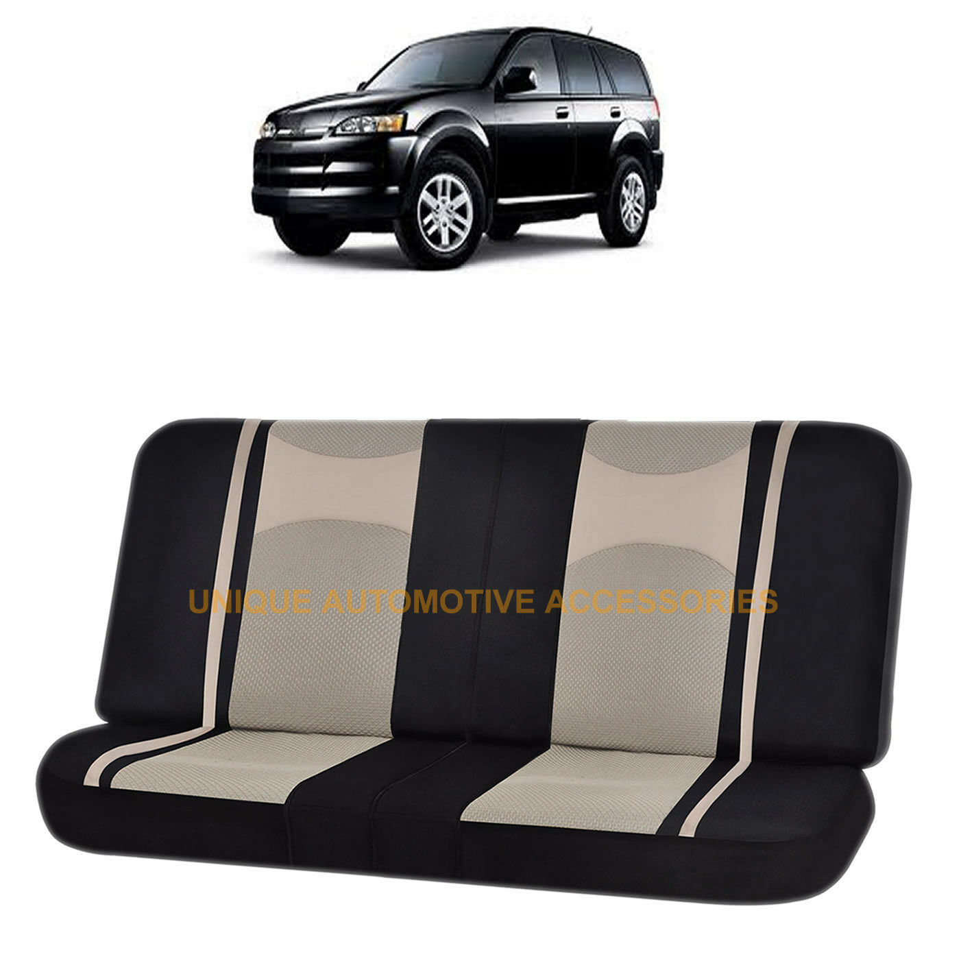 Wondrous Details About Beige Black Poly Mesh Net 2Pc Split Bench Seat Cover For Isuzu Rodeo Trooper Cjindustries Chair Design For Home Cjindustriesco