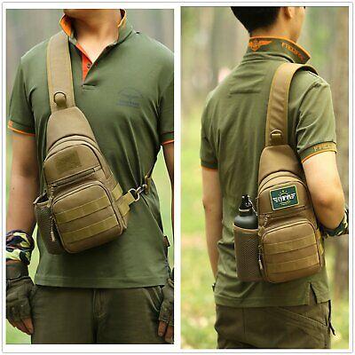 Military Single - Huntvp Military Chest Sling Bag Molle Crossbody Shoulder Pack Single Strap Back