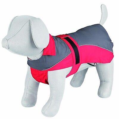 Trixie Regenmantel Lorient für Hunde, grau/rot, diverse Größen
