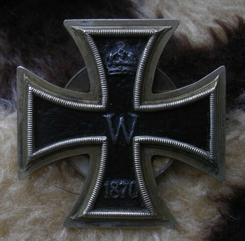 RARE EARLY 1870 PERIOD GERMAN 1ST CLASS IRON CROSS  ORIGINAL  1