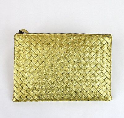 Gewebte Clutch-handtasche (Neu Bottega Veneta Geflochtener Gewebt Leder Clutch Täschchen Handtasche, 302293)
