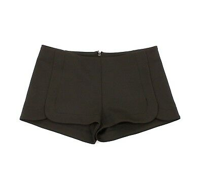 Back Zip Stretch Shorts (Eight Sixty Mini Shorts S Black Stretch Ponte Polyester Zip Back NEW )