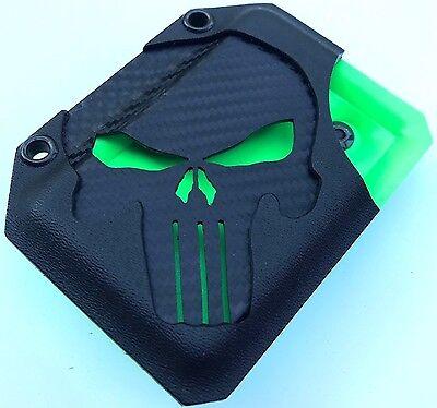 Zombie 💀DARK PUNISHER EDITION💀 Kydex Wallet With Money Clip Carbon Fiber