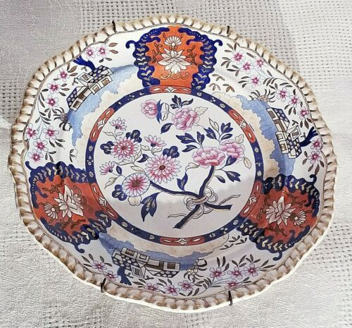 """Antique Spode Plate, """"Imari Cottage"""", 4176, Early 19th C English"""