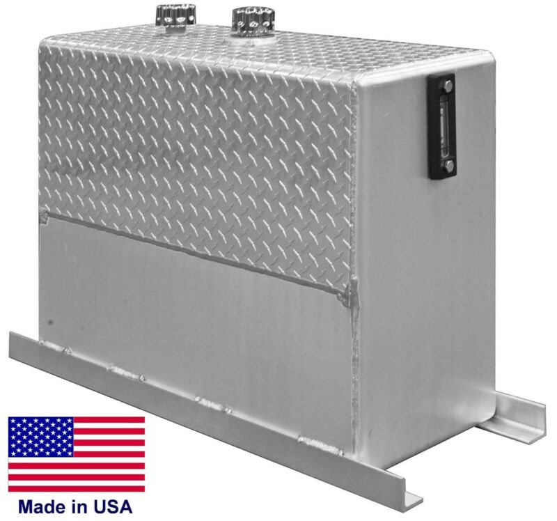 50 Gallon Hydraulic Reservoir - Aluminum - Upright - Sight Gauge - Mounting Kit