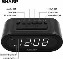 SHARP Digital Alarm with AccuSet - Automatic Smart Clock, Never Needs Setting.