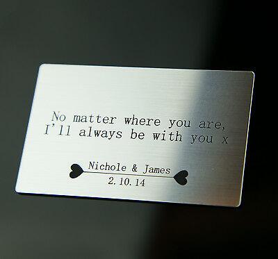 Personalised Valentines Wallet Card Anniversary Boyfriend Girlfriend Gift Idea