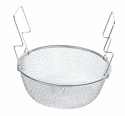 Two Handle 8 5 Stainless Steel Deep Frying Mesh Basket E012