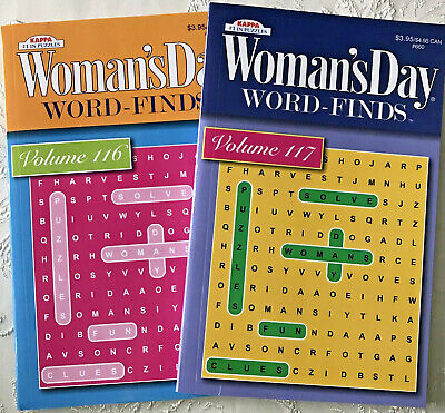 2 Puzzle Books Word Finds Womans Day Lot Vol 116 117 Search Games Hobby Kappa