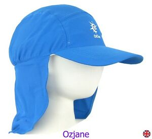 572d03daee668 BOYS UV 50 +OZCOZ SUN SWIM HAT SUN PROTECTION LEGIONNAIRE BLUE 7 TO 10 YRS