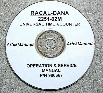 Racal-dana 2251-02m Universal Timercounter Manual Operating Service