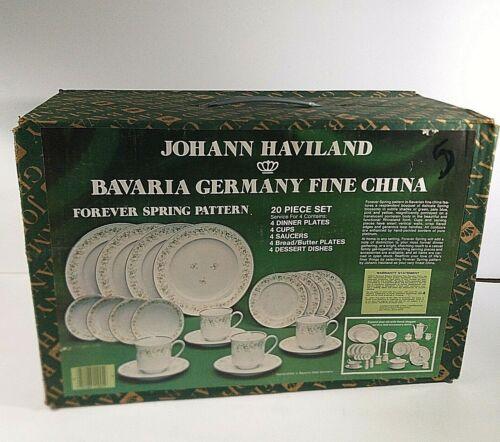 Johann Haviland Bavaria Germany FOREVER SPRING 20 Piece Dish Set PLATES Cups NEW