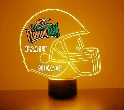 Florida A&M Rattlers NCAA Football FAMU Light Up Lamp LED, Personalized Florida A&m Football