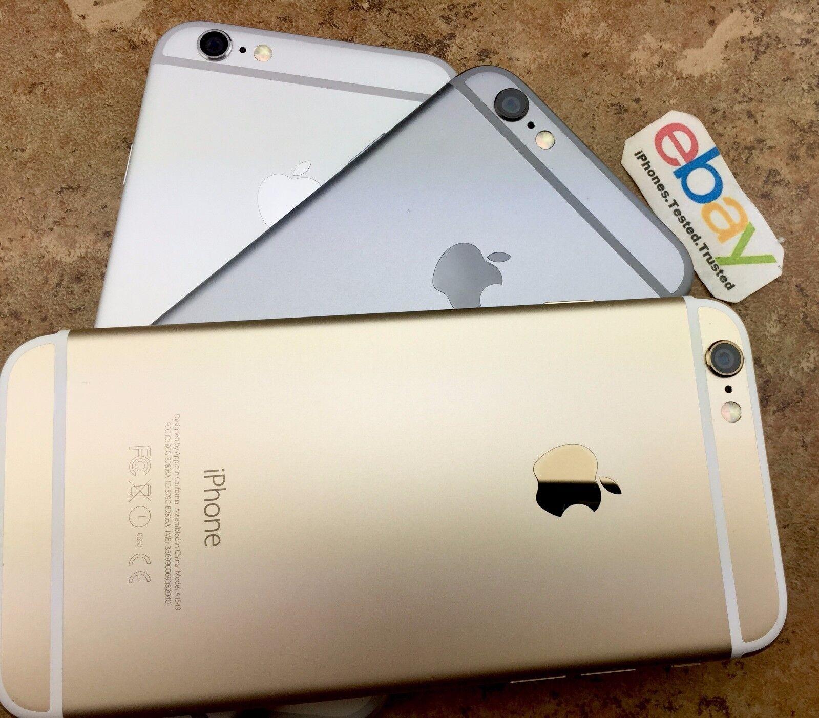 Factory Unlocked Apple iPhone 6 Gold Silver Space Gray ATT TMobile 16/64GB/128GB