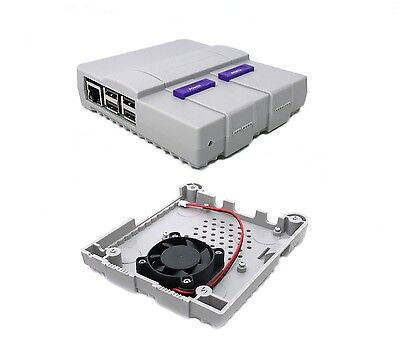 Super Tinytendo Case for Raspberry Pi 3, 2, Model B, B+, with Large Cooling Fan