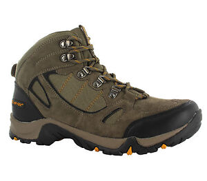 New-Mens-Hi-tec-Falcon-Brown-Leather-Waterproof-Walking-Hiking-Boots-Size-7-13