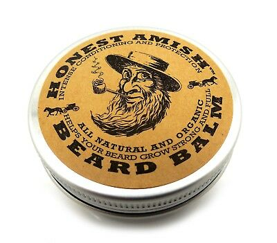 Honest Amish Beard Balm 2oz](Amish Man)