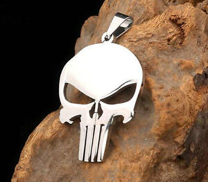 Punisher Necklace Stainless Steel Pendant Plus 60cm chain