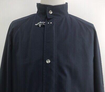Fay Mens Blue Fisherman Clip Italian Jacket Size Medium