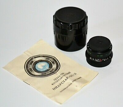 EXC! 1983 RUSSIAN USSR SLR INDUSTAR-50-2 LENS f3.5/50, M42 BOXED with GUIDE (3)