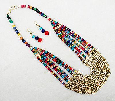 (Ebay Sale Ethnic NAGA BONE Multi Beads Strand Beautiful Fashion NECKLACE Jewelry)