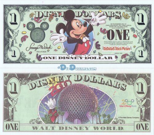 2000 A $1 MINT UNCIRCULATED Millennium MICKEY Disney Dollar Disneyland Dollars