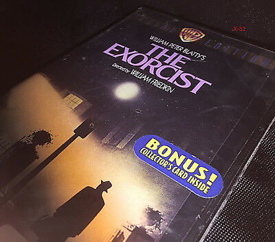 THE EXORCIST vhs VIDEO TAPE new + TRADING CARD inside  25th anni max von sydow