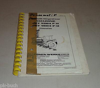 Parts Catalog Amazon Pneumatic Fertilizer Spreader Jet 1204/1504 F/H St.1990