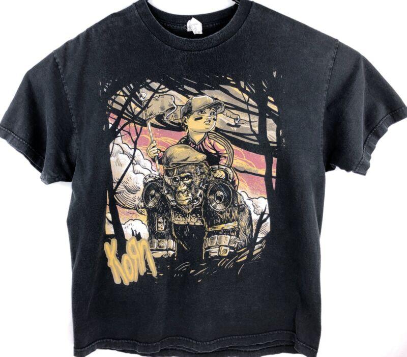 Vintage Korn Graphic T Shirt Men Size XL Heavy Metal Rare 90