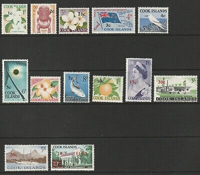 Cook Islands 1967 Decimal O'Prints Set Complete UM